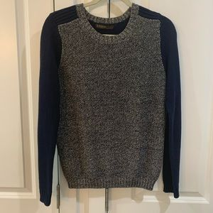 Navy blue and silver sweater